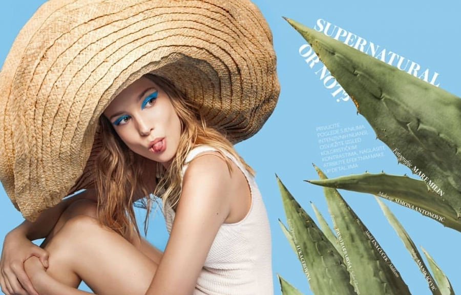 Midikennov model Ena Čuček za beauty editorijal u magazinu Storybook